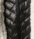 Samantha Shearling Black Padded Puffer Jacket