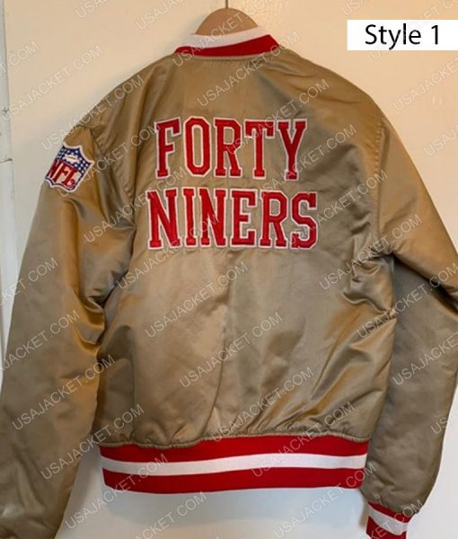 San Francisco 49ers Gold Satin Jacket