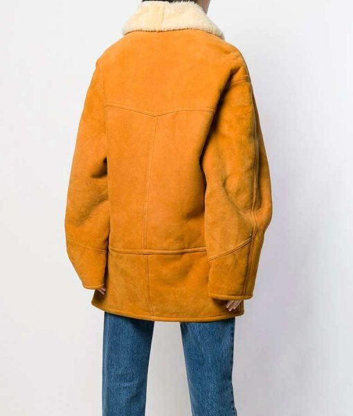 Scarlett Mid-Length Shearling Coat
