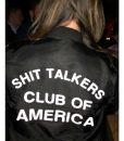 Shit Talkers Club Of America Black Bomber Jacket