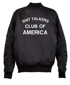 Shit Talkers Club Of America Bomber Jacket
