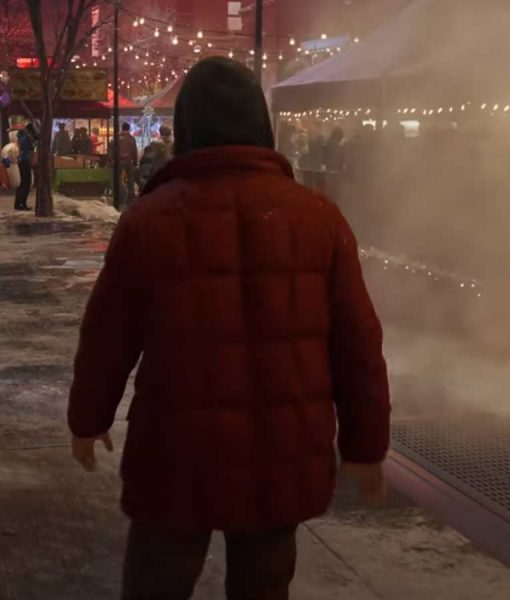 Spider-Man Miles Morales Red Puffer Jacket