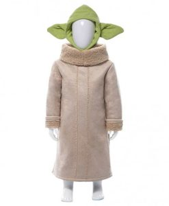 Baby Yoda Suede Leather Coat