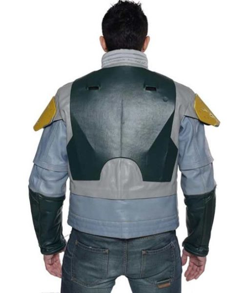 Star Wars The Mandalorian Season 02 Boba Fett Grey Leather Jacket
