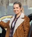 Supernatural Briana Buckmaster Suede Leather Shearling Jacket