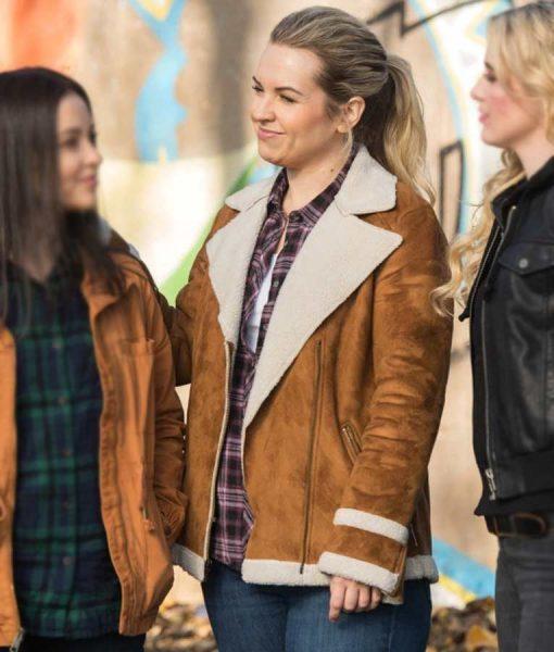 Supernatural Season 13 Briana Buckmaster Shearling Jacket