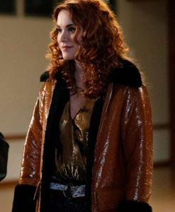Supernatural Season 15 Anael Sister Jo Shearling Coat