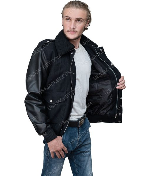Power Book II Ghost Tariq St. Patrick Jacket With Shearling Collar