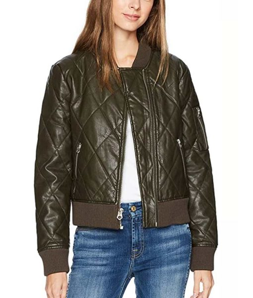 The 100 S06 Raven Reyes Quilted Leather Jacket