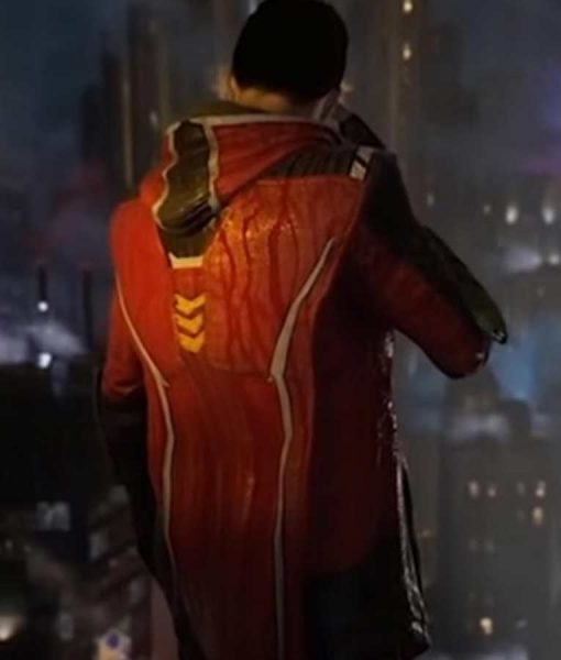 Gotham Knights Robin Leather Jacket With Hood