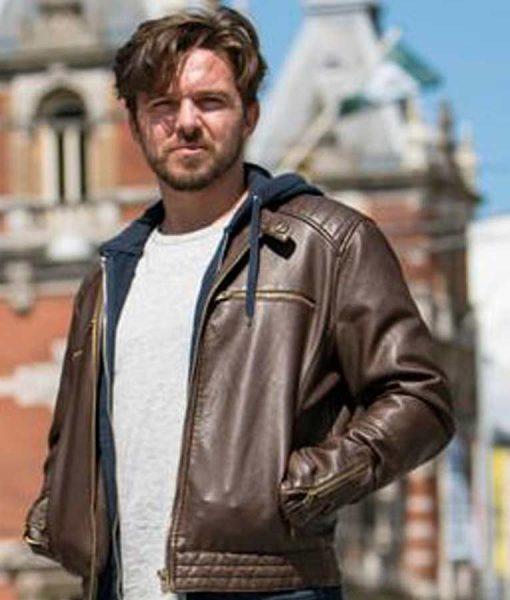 Van der Valk Luke Allen-Gale Brown Leather Jacket