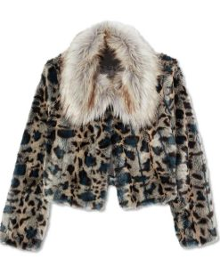 Wynonna Earp Waverly Earp Leopard Faux Fur Jacket