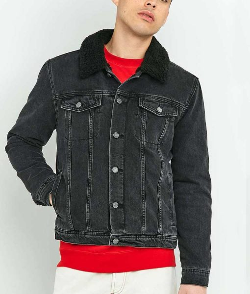 Woke Keef Knight Black Trucker Jacket