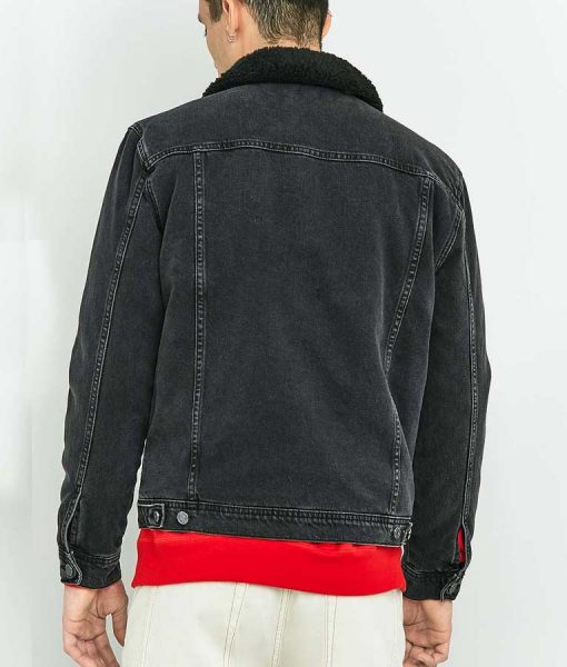 Woke Keef Knight Lamorne Morris Black Denim Trucker Jacket