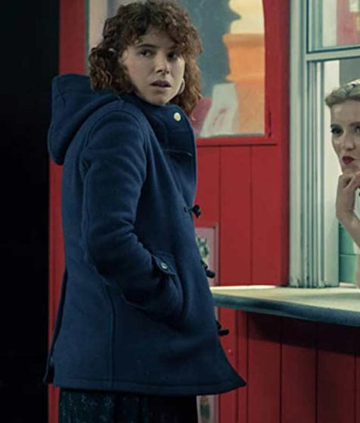 Young Woman, I'm Thinking of Ending Things Jessie Buckley Coat With Hood