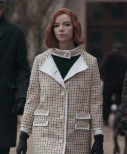 The Queen's Gambit Anya Taylor-Joy Checkered Coat
