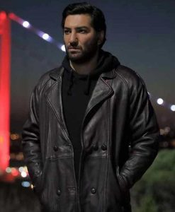 Mahsun Çukur Season 04 Berkay Ates Black Leather Coat