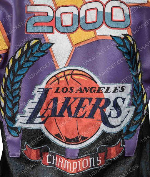 Jeff Hamilton Lakers Championship Leather Jacket