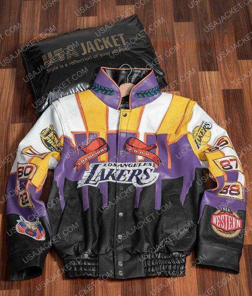 Los Angeles Jeff Hamilton 2000 Lakers Championship Leather Jacket