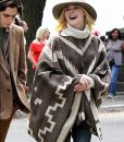 A Rainy Day In New York Elle Fanning Poncho