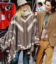 A Rainy Day In New York Elle Fanning Mexican Style Poncho