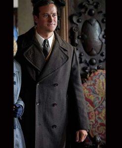 Armie Hammer Rebecca Maxim de Winter Coat
