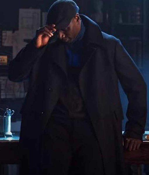 Arsene Lupin Omar Sy Black Trench Coat