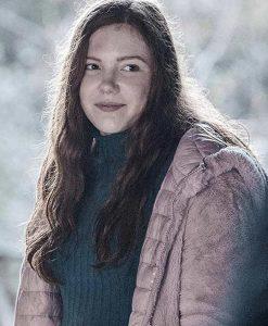 Shortcut Sophie Jane Oliver Pink Shearling Coat