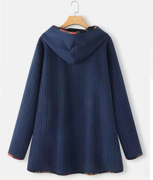 Jacquard Coat with Hood