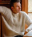 Knives Out Chris Evans Cable Knit Sweater