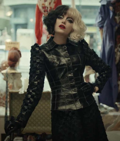 Cruella 2021 Emma Stone Leather Jacket