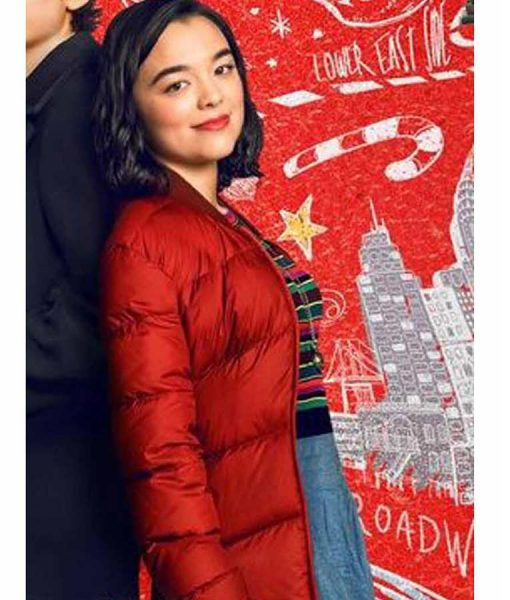 Dash & Lily Book Of Dares Red Puffer Jacket