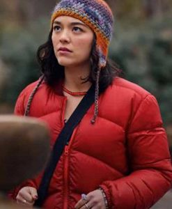 Dash & Lily Book Of Dares Midori Francis Red Puffer Jacket