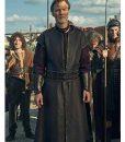 Britannia Season 03 Aulus Black Leather Long Coat