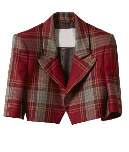 Emily-In-Paris-Emily-Cooper-Cropped-Red-Plaid-Jacket