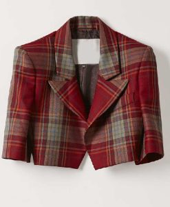Lily Collins Emily In Paris Emily Cooper Red Plaid Jacket