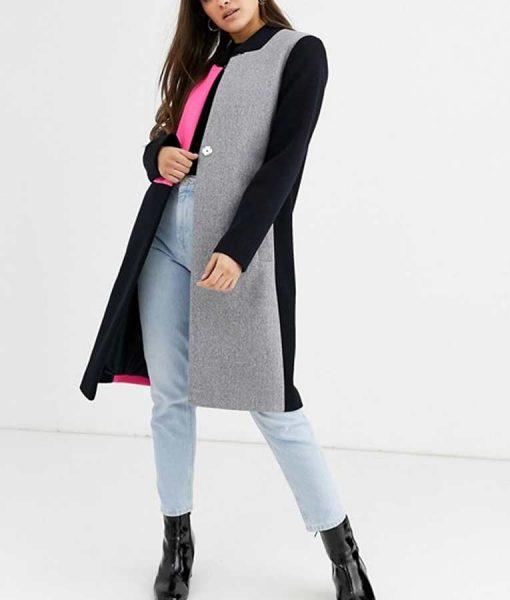 Emily Cooper Emily In Paris Lily Collins Color Block Coat