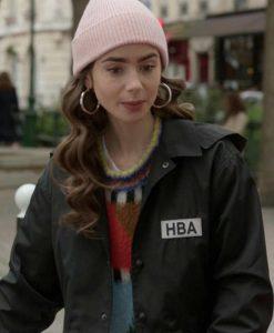 Emily In Paris Emily HBA Logo Cropped Jacket
