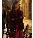 Emily In Paris Lily Collins Velvet Jacket