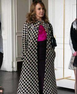 Emily In Paris Philippine Leroy-Beaulieu Checkered Coat