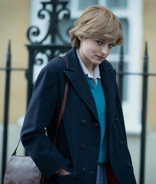 Emma Corrin The Crown Lady Diana Spencer Coat