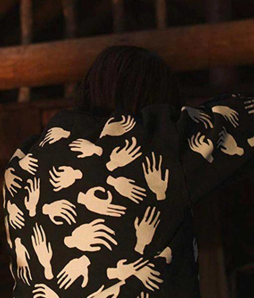 Fanny Scare Me Aya Cash Printed Black Sweatshirt