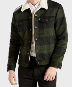 Riverdale Luke Perry Green Plaid Sherpa Jacket