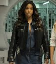 Gabrielle Union L.A.'s Finest Sydney Burnett Leather Cropped Jacket
