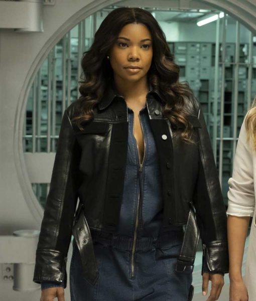 Gabrielle Union L.A.'s Finest Sydney Burnett Leather Jacket