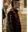 Giacomo Ferrara Suburra S03 Alberto 'Spadino' Anacleti Black Vest