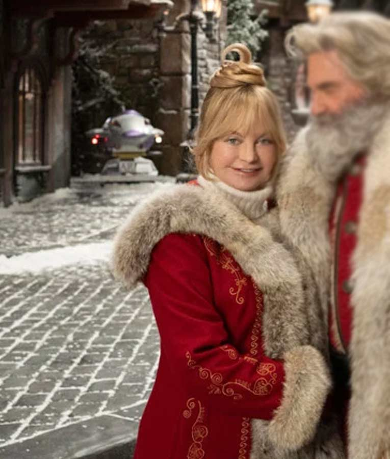Mrs Claus Coat Goldie Hawn The Christmas Chronicles 2 Jacket