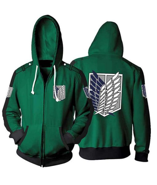 Green and Black Attack On Titan Hoodie
