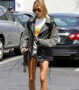 Hailey Baldwin Silver StuddHailey Baldwin Silver Studded Leather Jacketed Leather Jacket