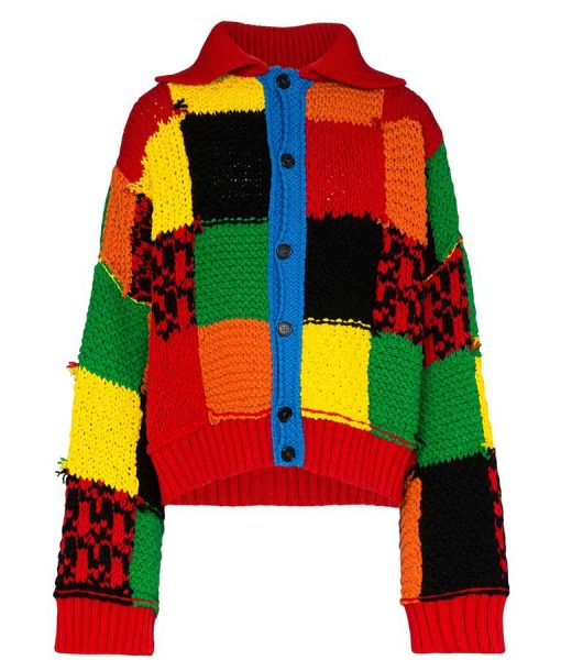 Harry Style Color Block Patchwork Cardigan